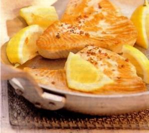 Thunfischsteaks mit Zitronensahne - Rezept