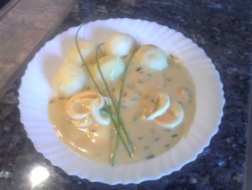 Eier in Senf-Sahne-Soße - Rezept