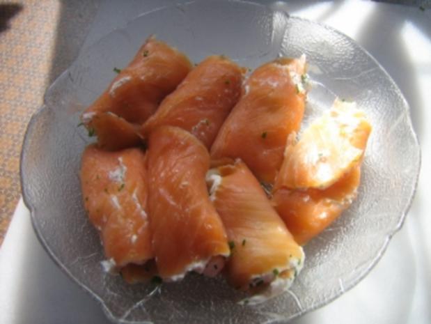 Lachsröllchen mit Ricotta - Rezept
