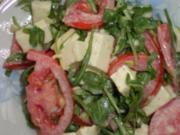Rucolasalat mit Tomaten und Mozzarella - Rezept