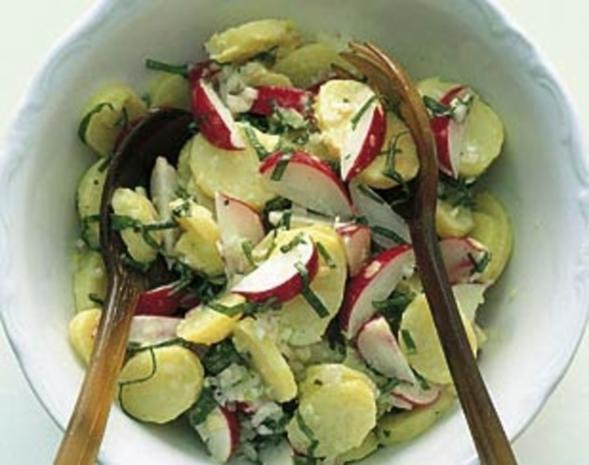 Kartoffelsalat an Bärlauch-Vinaigrette - Rezept