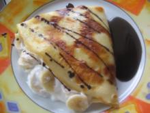 Banana-Crepes mit Schokosoße - Rezept