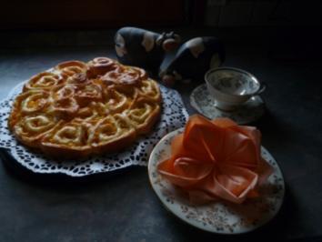 Pfirsich Rosenkuchen - Rezept