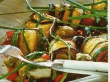 Zucchiniröllchen mit Feta - Rezept