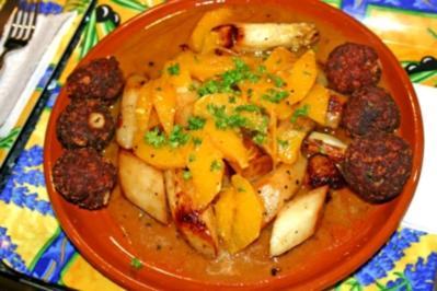 Rezept: Spargel mit Orangensauce und Käsebällchen