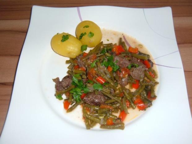 Fleisch : Römische Bohnen mit Rindfleisch - Rezept - Bild Nr. 2