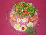 Saltimboccaröllchen vom Seeteufel auf Rapunzelsalat - Rezept