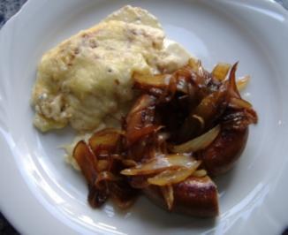 Kartoffel-Kohlrabi-Gratin mit frischer Bratwurst - Rezept