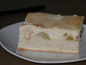 Rhabarber-Käse-Kuchen vom Blech - Rezept