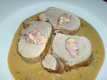 Gefülltes Schweinefilet an Salbeisauce - Rezept