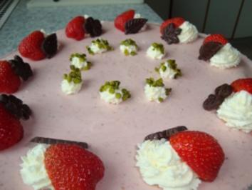 Rezept: Erdbeeroberstorte