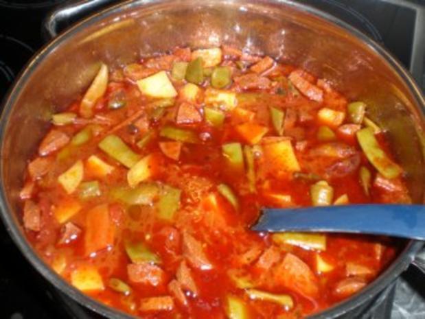 Türkischer Gemüseintopf mit Sucuk - Rezept