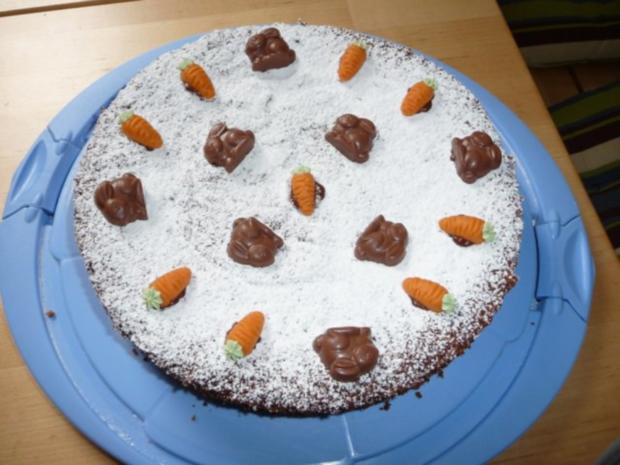 Karottenkuchen mit Zucker und Eier - Rezept mit Bild - kochbar.de