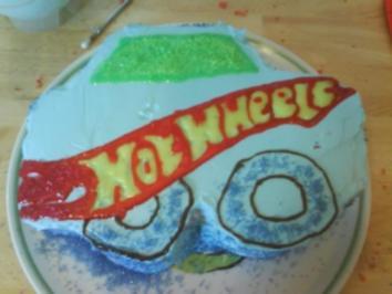 Hot Wheels Torte - Rezept