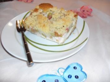 Rhabarber-Quark Streuselkuchen - Rezept