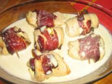 Hähnchenrolladen gefüllt mit Feta, Schinken und Salbei - Rezept