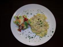 Pappardelle mit Lachs in Weißwein-Sahne Soße - Rezept