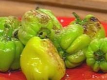 Gebratene scharfe Paprika (Dolmar) mit Meersalz - Rezept