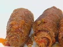 Spanische Rouladen und Süßkartoffeln mit Pepperoni - Rezept
