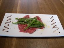 Rindercarpaccio an grünem Bohnensalat - Rezept