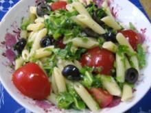 Nudelsalat - mal mediterran ... - Rezept
