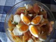 Tomaten - Mozzarella - Salat mit Spargelspitzen - Rezept