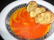 Rot-Gelbe Paprikasuppe - Rezept
