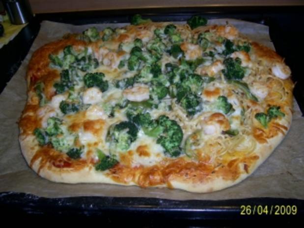 Spaghettipizza mit Garnelen - Rezept - Bild Nr. 2