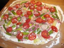 Spargelpizza a la Tim Mälzer - Rezept