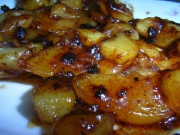 Kartoffelscheiben süß-sauer - Rezept