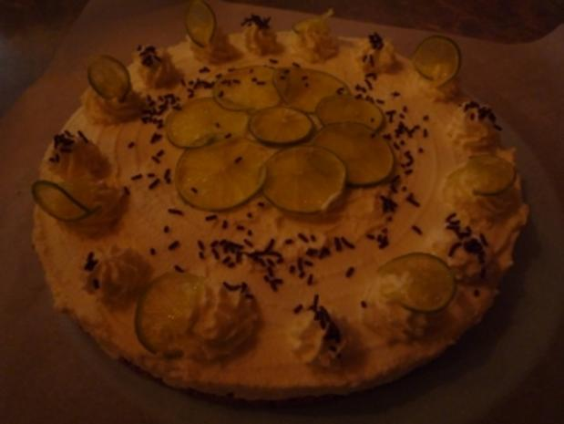 Limetten- Quark- Torte - Rezept