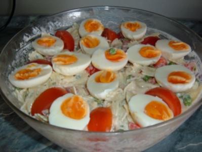 Salat.......Bunter Nudelsalat - Rezept