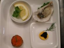 Austern in Beef Kaviar Canapè - Rezept