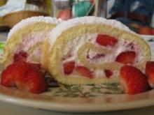 Erdbeer-Vanille-Rolle - Rezept
