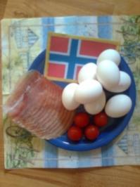 Tomaten-Schinken-Ruehrei - Rezept