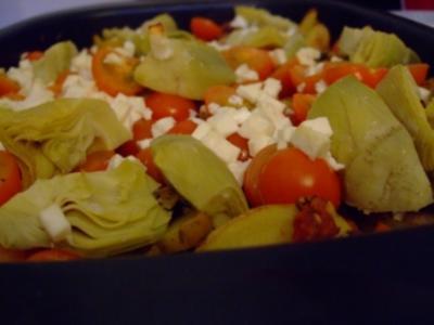 Mediterraner Kartoffel-Hähnchen-Auflauf - Rezept