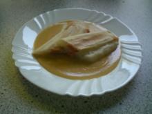 Spargelröllchen mit Orangen-Parmesansoße - Rezept