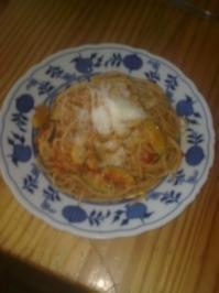 Vollkornspaghetti mit Vegetarischer Sauce - Rezept