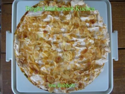 Kuchen: Birgits Rhabarber-Kuchen - Rezept