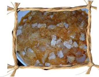 Fleisch  :  Sauerkrautgulasch - Rezept