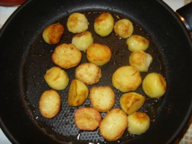 Gebratener Spargel im Schinkenmantel und Bratkartoffeln - Rezept - Bild Nr. 2