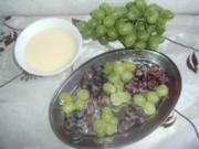 Vanilletrauben auf Zabaione - Rezept