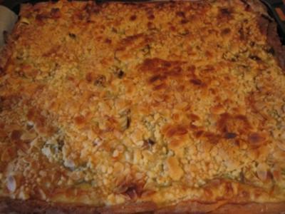 Rhabarberkuchen mit Butterstreusel - Rezept