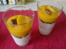Schokokuss-Creme mit Pfirsich - Rezept