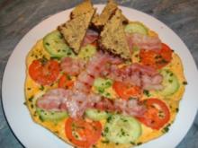 Eierkuchen mit Tomaten - Rezept