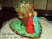 """Kuchen  """"Mai-Baum-Kuchen"""" Tanz in den Mai - Rezept"""
