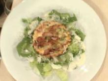 Quiche Lorraine mit Cesars Salad a la Henze - Rezept