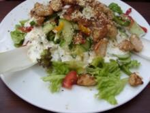 Salat Allerei mit Putenstreifen und Sesamkörner - Rezept