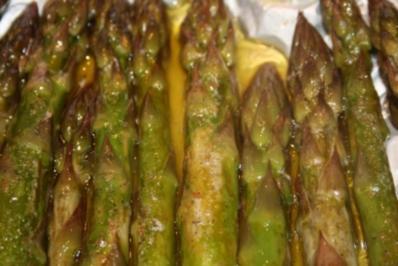 Grüner Spargel im Backofen - Rezept