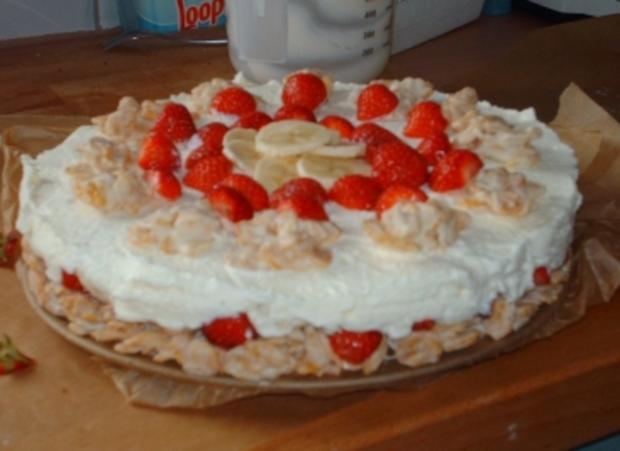 Erdbeer-Bananen-Crunch-Torte - Rezept - Bild Nr. 2